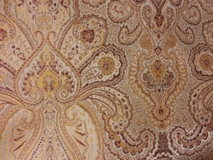 Gold & Brown Paisley