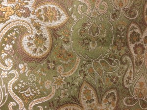 Green, Gold & Brown Paisley