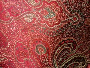 Red & Torquoise Paisley